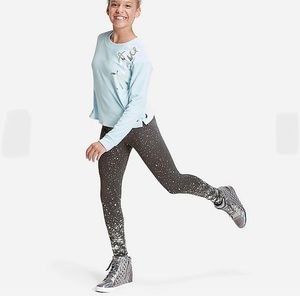 Justice collection x foil star metallic leggings